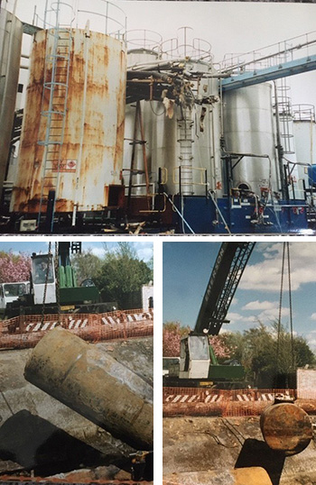 Industrial tank decommissioning